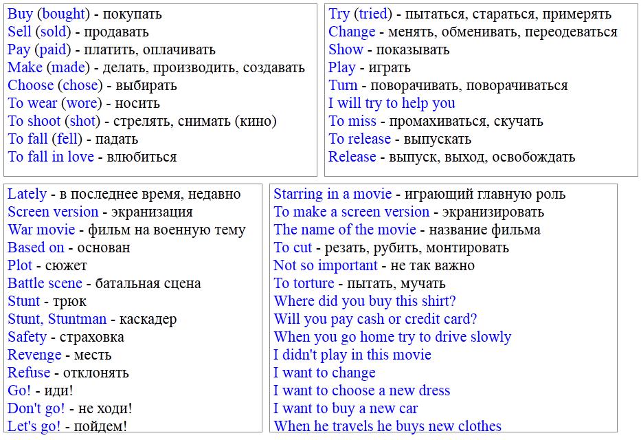Полиглот английский урок 7